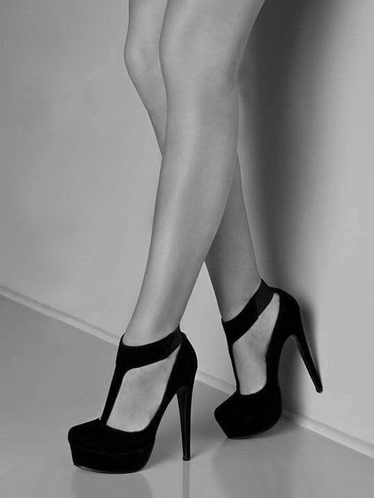 Suede black stilleto heels