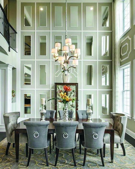 Property Hacks Making Use Of Mirrors Luxury Dining Room Dining