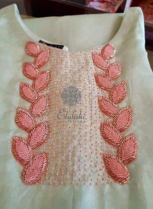 Pin By Arshiya Azmi On Important Embroidery Neck Designs Hand Embroidery Designs Hand Embroidery Dress