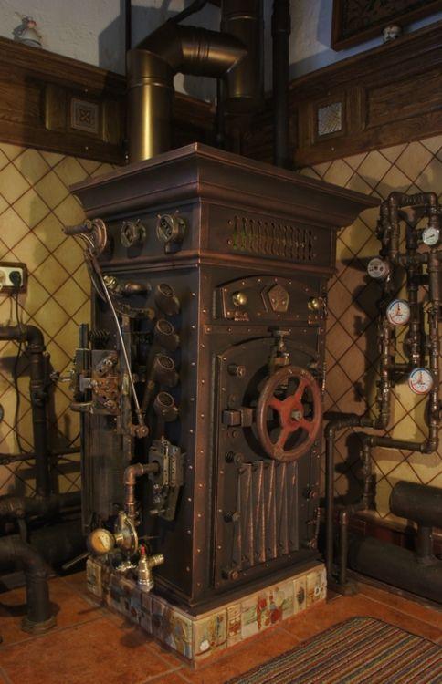 Chaudière russe dans le style Steampunk
