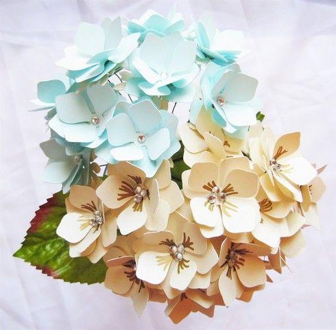 Hydrangea Paper Flower Templates Flower Svg Files Flower Template Paper Flower Template