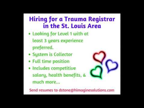 himagine solutions inc Trauma Registry Division is Hiring - trauma registrar sample resume