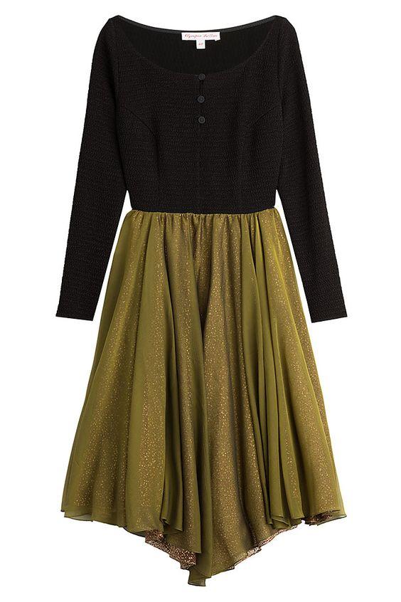 Asymmetric Dress with Silk detail 0