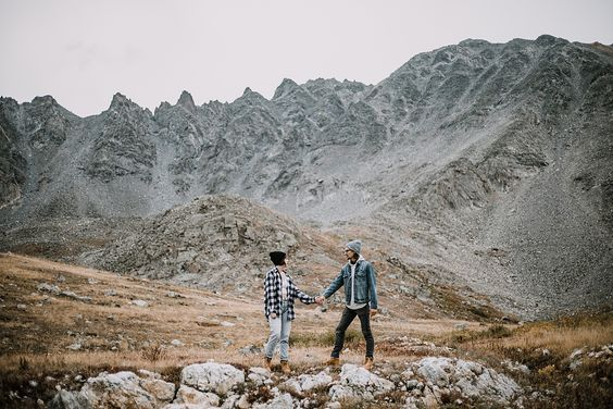 And Two Were Tamed // www.andtwoweretamed.com // colorado elopement, colorado elopement photographer, couple walking colorado trail, hike mayflower gulch, mayflower gulch proposal, mayflower gulch elopement, mayflower gulch wedding, mayflower gulch engagments, patagonia elopement, patagonia hiking