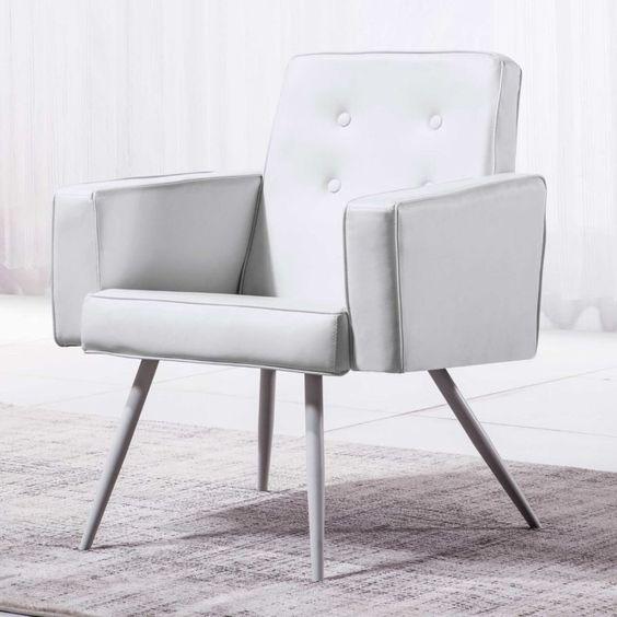 Detalles de Butaca de espera fija, silla tapizada, sillon comedor ...
