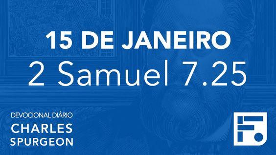 15 de janeiro - Devocional Diário CHARLES SPURGEON #15