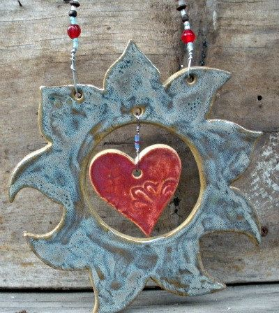 hanging sun with heart
