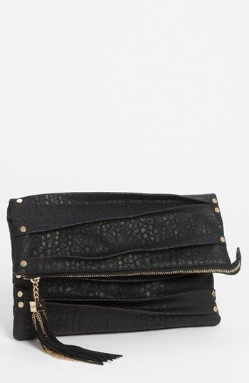 tough yet elegant...my kind of clutch! Izzy & Ali 'Sophie' Foldover Clutch available at #Nordstrom