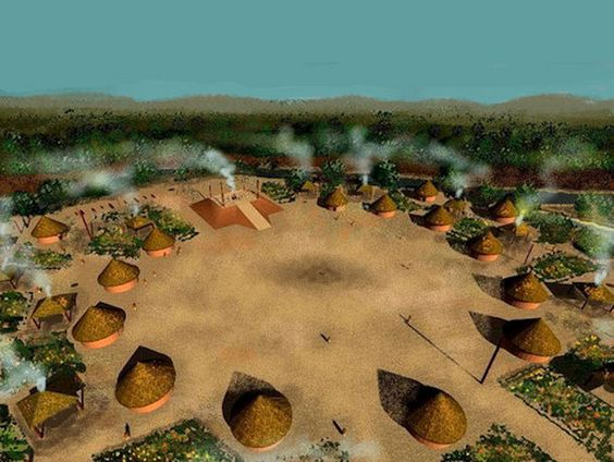 Until approximately 600 AD, perhaps 750 AD, the ancestors of the Creek Indians lived in round houses like most other Southeastern Indians.