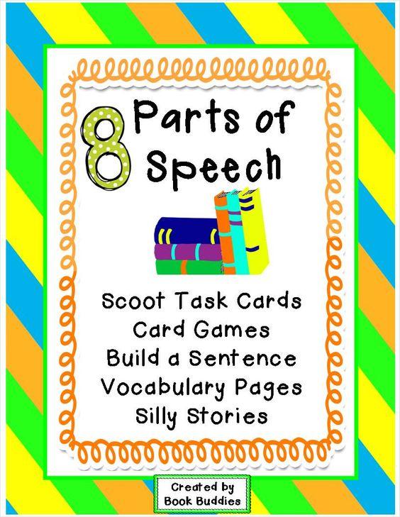 8 parts of speech games