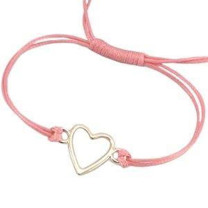Armband met hart koraal #ohsohip