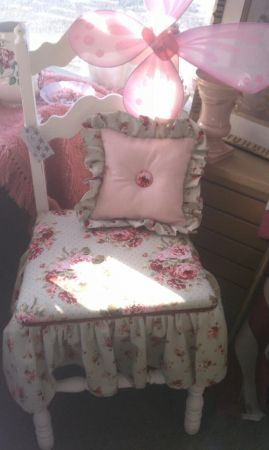 Sweet Shabby Chic Romantic Upcycled Chairs via Orphaned Decor