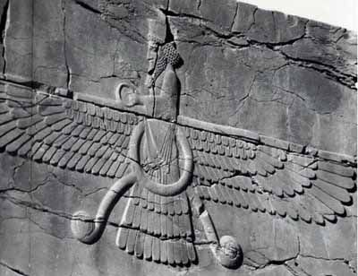 The God in his Flying Chariot ( Sumerian Assyrian )
