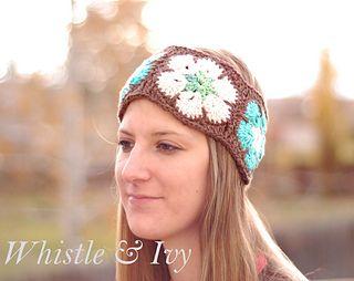 African Flower Headband, free pattern, Bethany Dearden