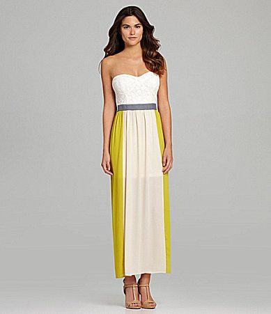 PERF FOR WHITE COAT!! Gianni Bini Elise Strapless Maxi Dress ...