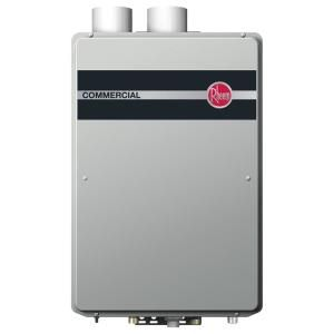 Rheem Commercial 9 5 Gpm Natural Gas High Efficiency Indoor Tankless Water Heater Rtgh C95dvln In 2020 Tankless Water Heater Heating And Plumbing Water Heater