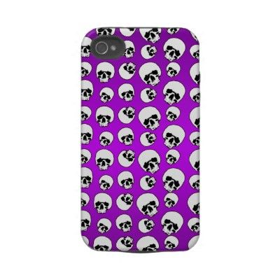 Black and White Skulls Case-Mate iPhone 4S Iphone 4 Tough Cases by hhhalloween