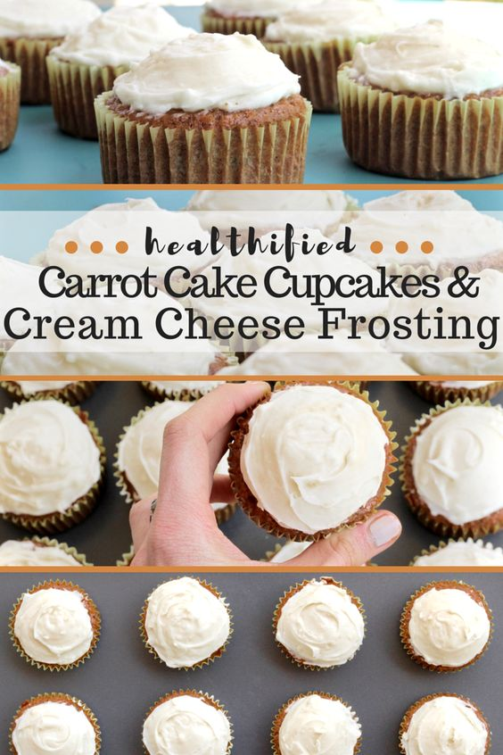 Carrot cake cupcakes, Cream cheese frosting and Carrot cakes on ...