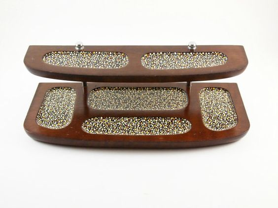 Hand Painted Polka Dots  Wood Desk Organizer  Mens by TessAndIvy, $50.00