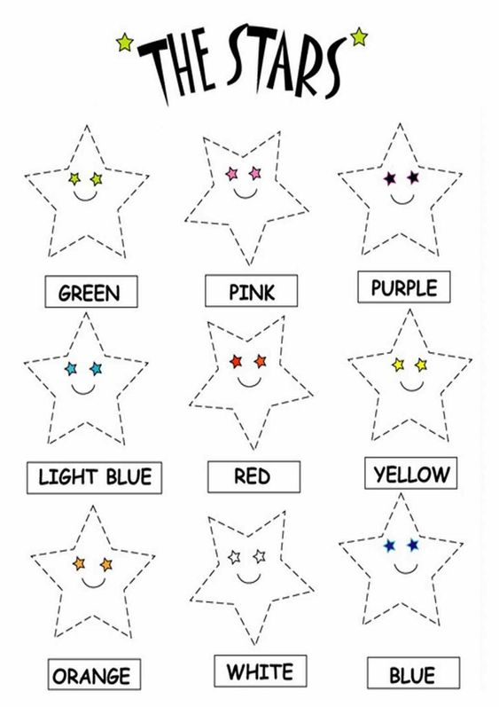 Color the Stars Worksheets - Printable Coloring Worksheets ...