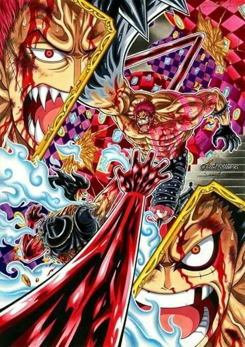 Luffy Vs Katakuri Whole Cake Island One Piece Anime One Piece Drawing One Piece Pictures