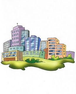 imagenes y dibujos ciudad para imprimir