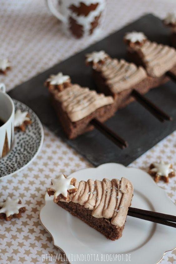 Lilli und Lotta: Schoko-Kaffee-Tannenbäumchen, Glühweintorte & Gewinner