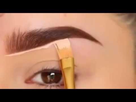 طريقة رسم الحواجب للمبتدئين Youtube Eyebrow Makeup Tutorial Eyebrow Makeup Perfect Eyebrows