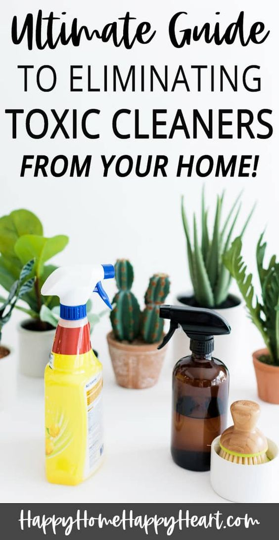Are your cleaning products harming your health? Time to eliminate the toxic cleaners in your home. This guide will help you identify the toxic cleaning products in your home so you can toss them out. You'll also discover natural cleaning products and natural cleaning recipes. Just in time for spring cleaning! #SpringCleaning #NaturalCleaning CleaningTips