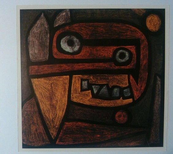 Fine Art  Mask   by Paul Klee Artwork Reproduction