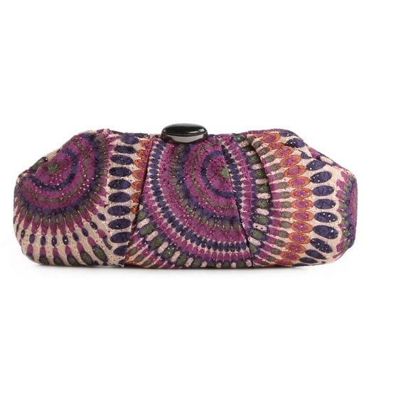 Lulu Townsend Fiesta Clutch ($40) ❤ liked on Polyvore