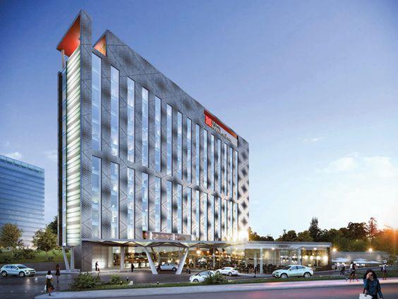 Hilton garden inn tushino hotel design facade design for Hotel design facade