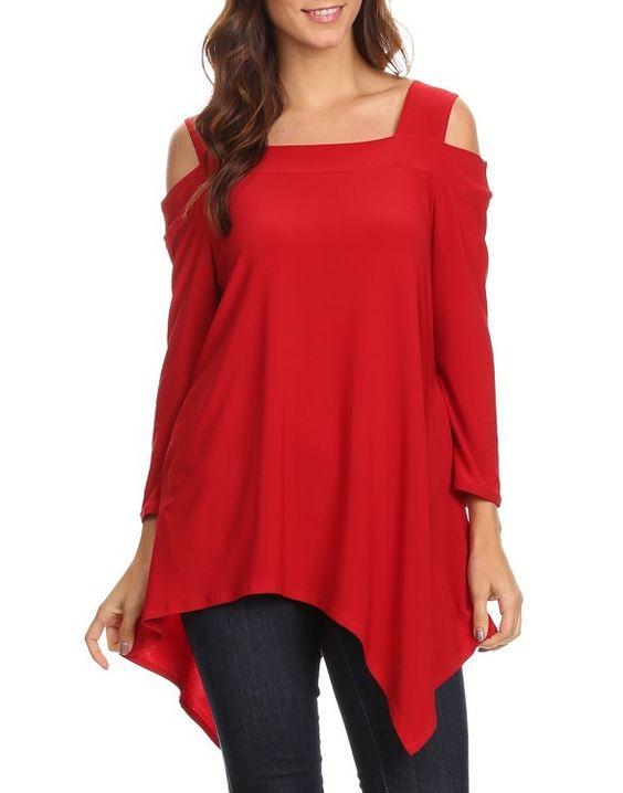Red Asymmetrical Tunic