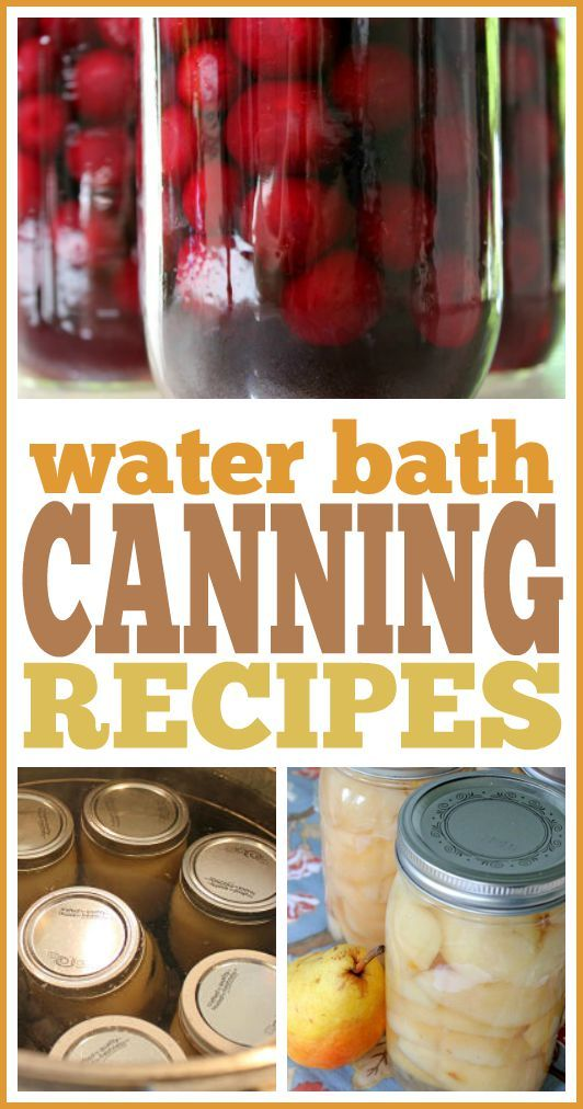 water bath canning instructions