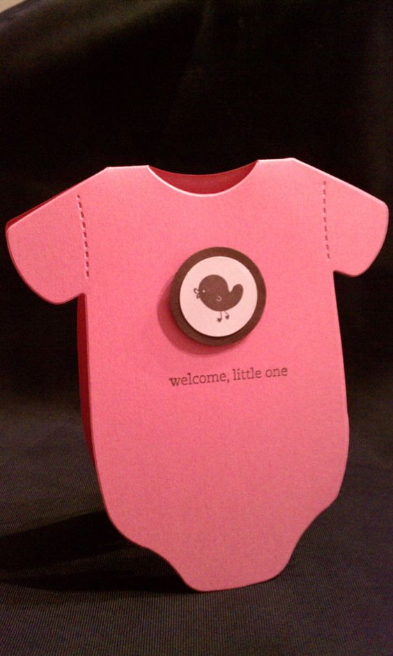 Welcome Little One  Onesie Baby Card Girl by theshabbychicgirl, $3.00