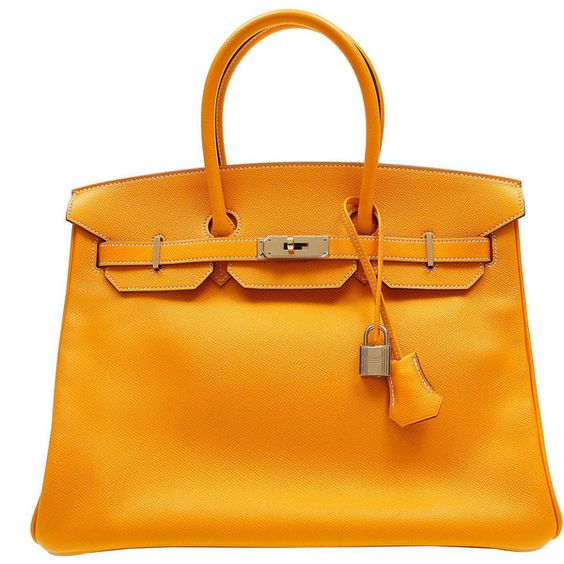 Preowned Hermes Jaune D\u0026#39;or Yellow Epsom Leather Birkin Bag- 35 Cm ...