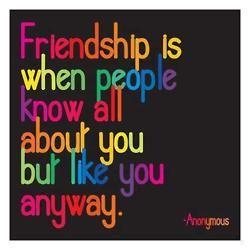 Friendship is when...