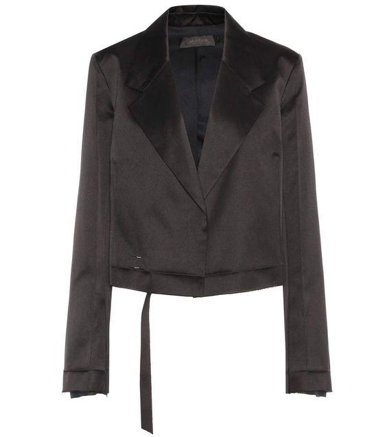 CALVIN KLEIN COLLECTION Gilson satin jacket. #calvinkleincollection #cloth #jackets