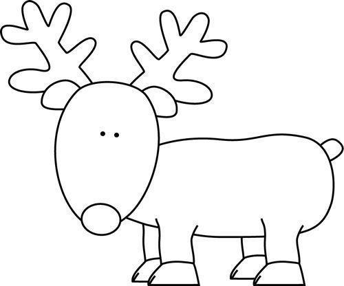 Easy Reindeer Coloring Page For Preschoolers