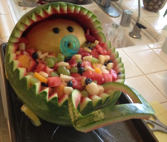 baby shower fruit baby carriage fruit salads baby showers fruit salads