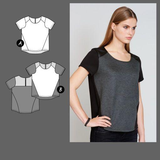 Bluse, Gr. 36 - Stoff & Stil