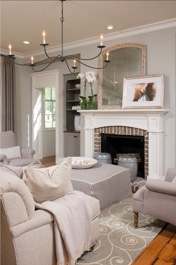 Mindful Gray Paint In Living Room: Sherwin Williams Paint Colors. Sherwin Williams SW 7016