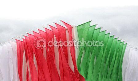 Padiglione Italiano cibus padiglione esterno, flags - expo 2015