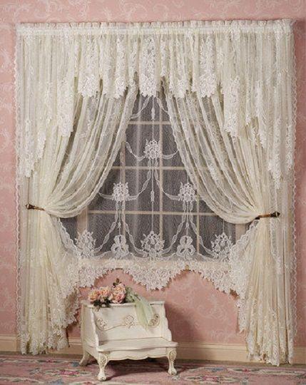 Window curtains. Very Victorian romantic