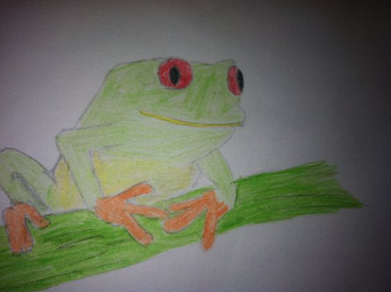 (Liza's niece) My dad drew the picture and I colored it when I was 8.