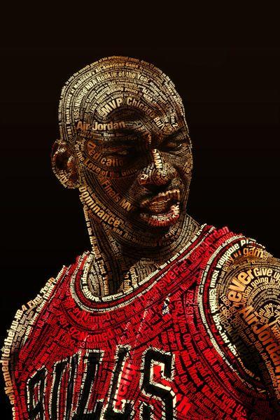 Michael Jordan tipograma