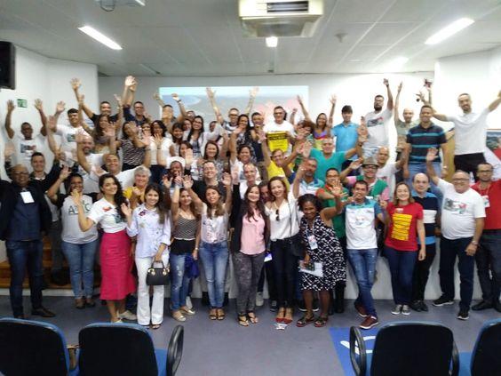 FAUmília reunida no VIII Erefau, em Lauro de Freitas, BA, nos dias 16, 17 e 18 de agosto de 2018