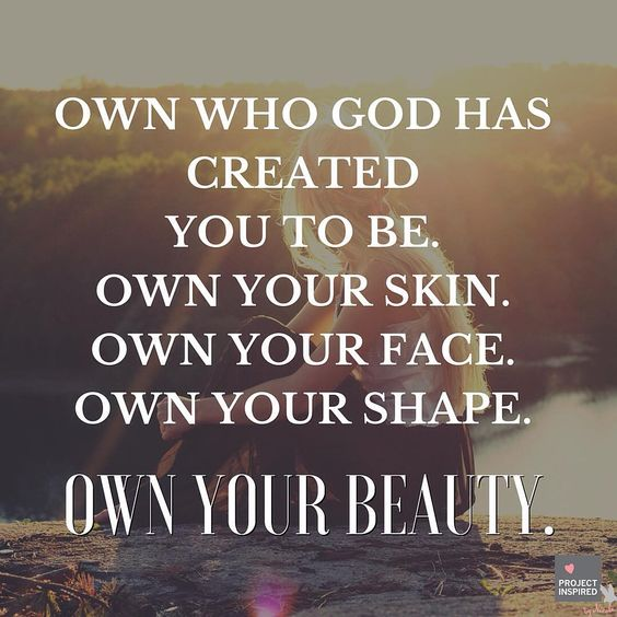 The thing about your unique beauty is that it belongs to you and no one else. Own it! ❤