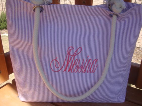Personalized Coral Bridesmaid Tote on Lavender by kutekiddo, $19.99