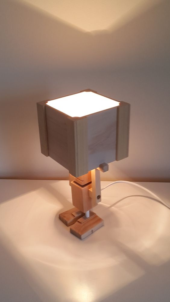 Isiah doing his thing - Table Lamp from Crafty&Co.